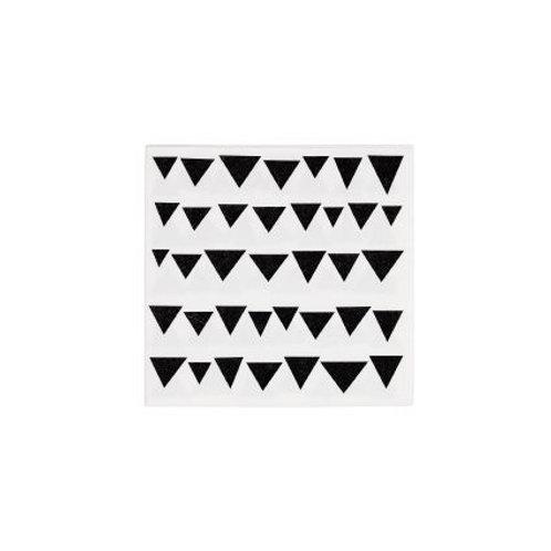 TRIKAMPIAI popierinės servetėlės, balta/juoda, 20vnt., 17x17cm
