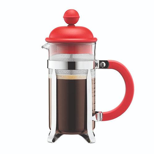 CAFFETTIERA kavinukas su presu, 0,35l,raudonas