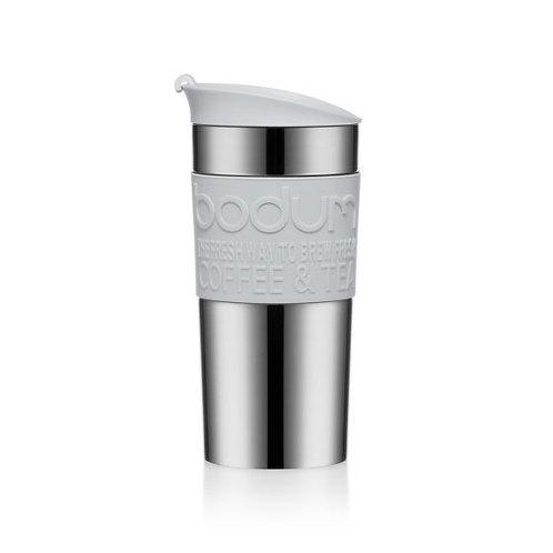 TRAVEL MUG termosinis puodelis, plienas, 0,35l, pilkas