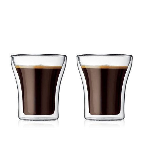 ASSAM stiklinės dviguba sienele, 2vnt., 0,2l