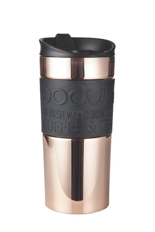 TRAVEL MUG termosinis puodelis, dvigubos plieno sienelės, 0,35l, vario spalva