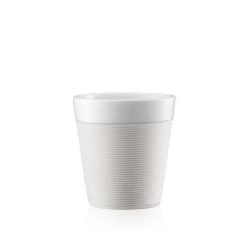 Puodelis BISTRO, 0,17l, 2vnt., porcelianas, baltas