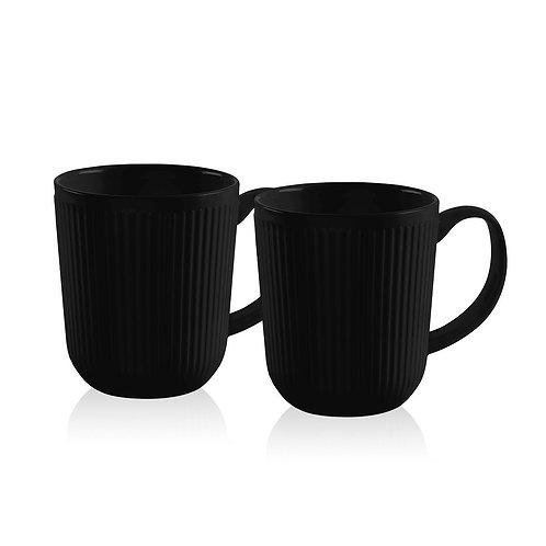 DOURO, porceliano puodeliai, 2vnt., 0,35l, juoda s.