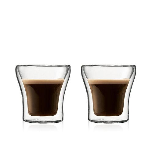 ASSAM stiklinės dviguba sienele, 2vnt., 0,1l