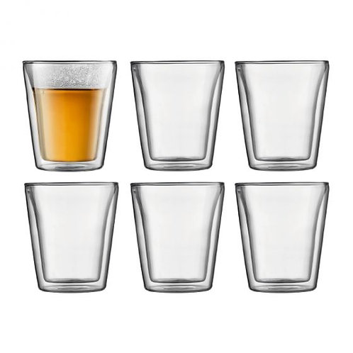 Stiklinės dviguba sienele CANTEEN, 6vnt.