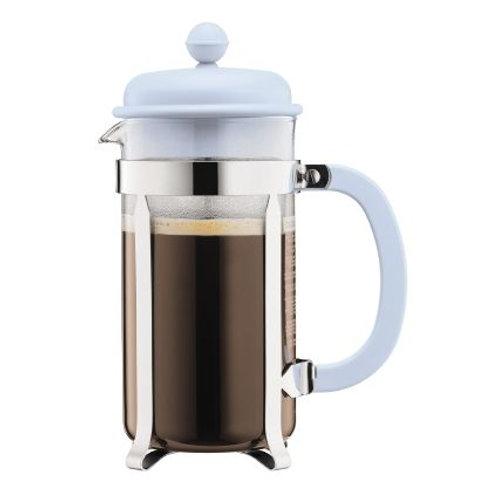 CAFFETTIERA kavinukas su nuspaudėju, melsvas, 1l