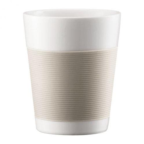 Puodelis BODUM CANTEEN, 2 vnt., 0,2 l, porcelianas, baltas