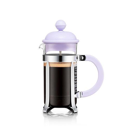 CAFFETTIERA kavinukas  su filtru, 0,35l, alyvinis, plastiko kolba