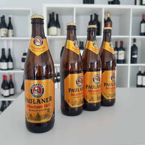 Paulaner Munich Hell is a golden lager with a full malty body, balanced by  an elegant hoppy bite and a crisp, refreshing finish provided by subtle  notes of ...