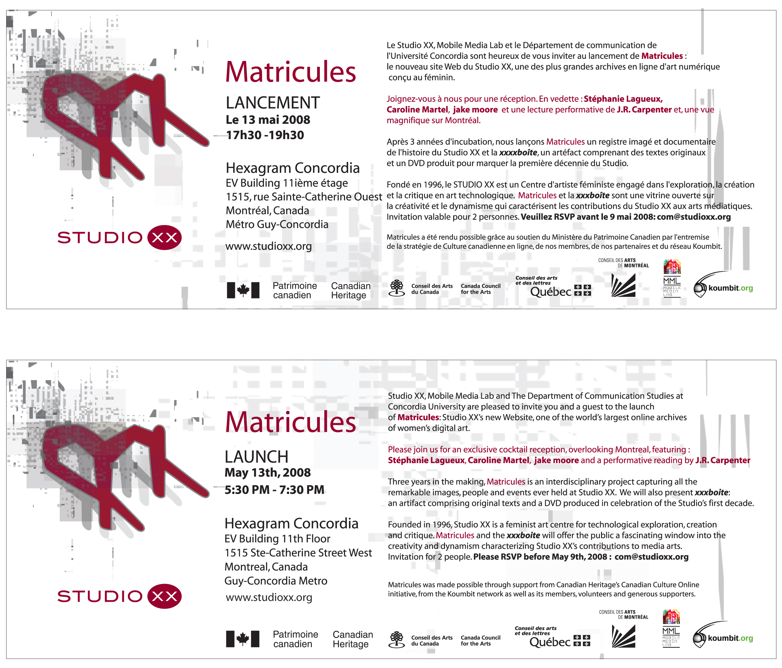 matricule launch invite
