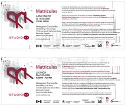 matricule launch invite