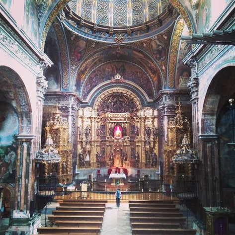 Przepiękny kościół w Los Arcos__#trailri