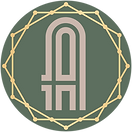 The_Alley_logo_symbol_pink_gold_on_olive