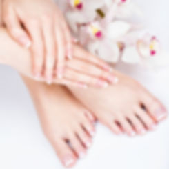 Manicure and pedicure spa beauty treatment