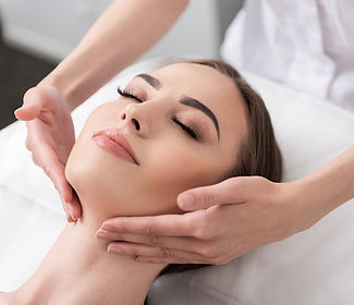 Skinceutical medical facial technician and patient