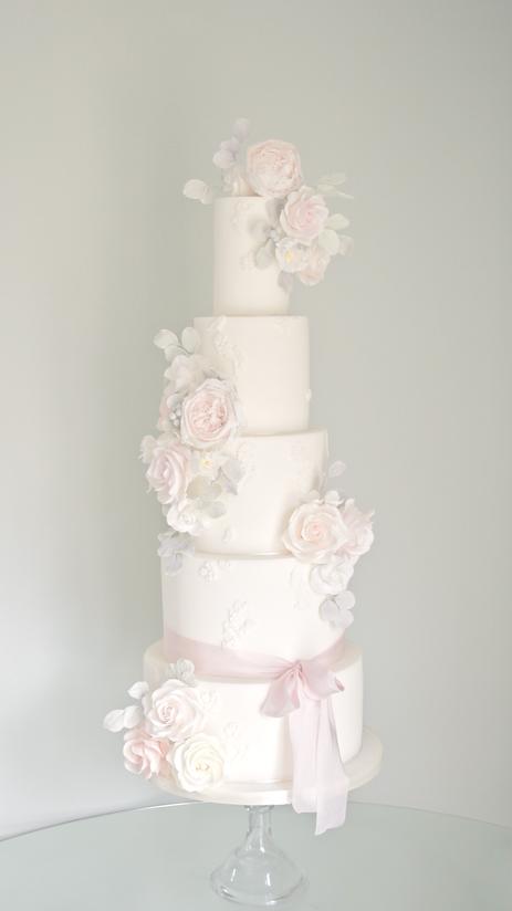 Pastel Romance Wedding Cake