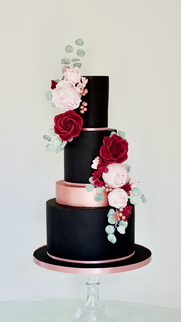 Black Beauty Wedding Cake