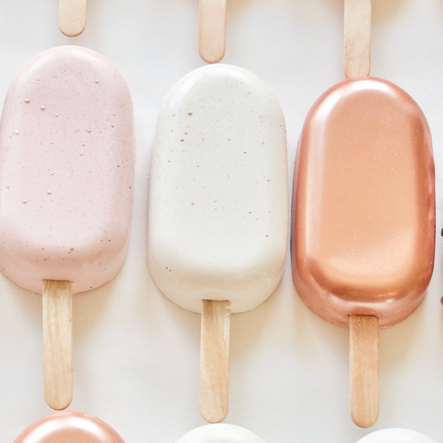 Rose and Blush Popsicles
