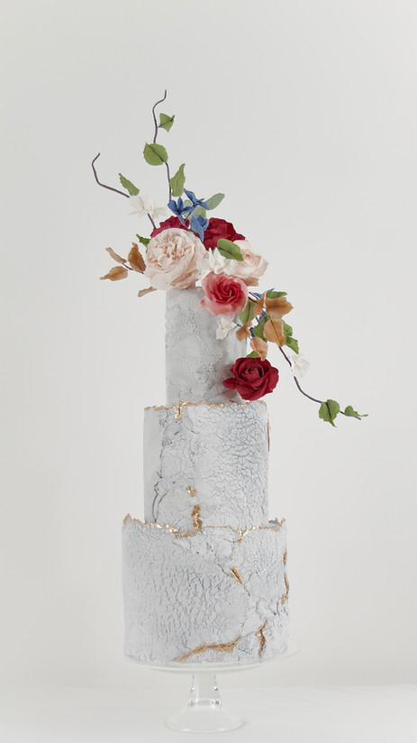 Concrete Texture Wedding Cake