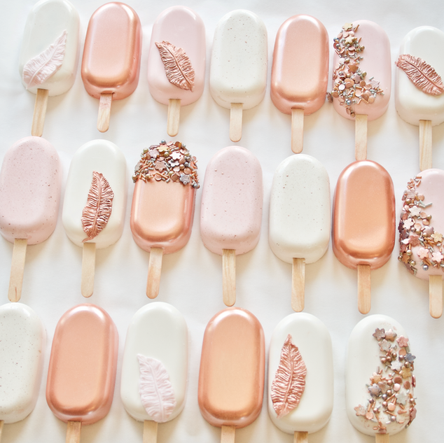Rose Gold Mix Popsicles