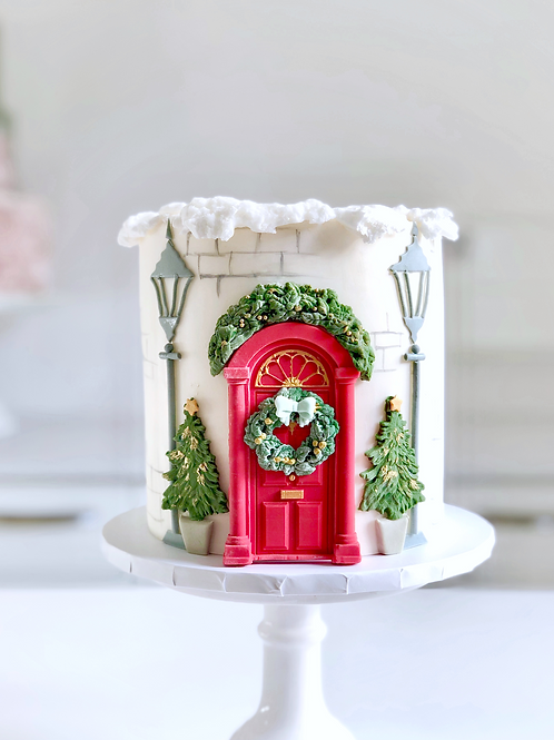 Festive Door Christmas Cake COLLECTION ONLY
