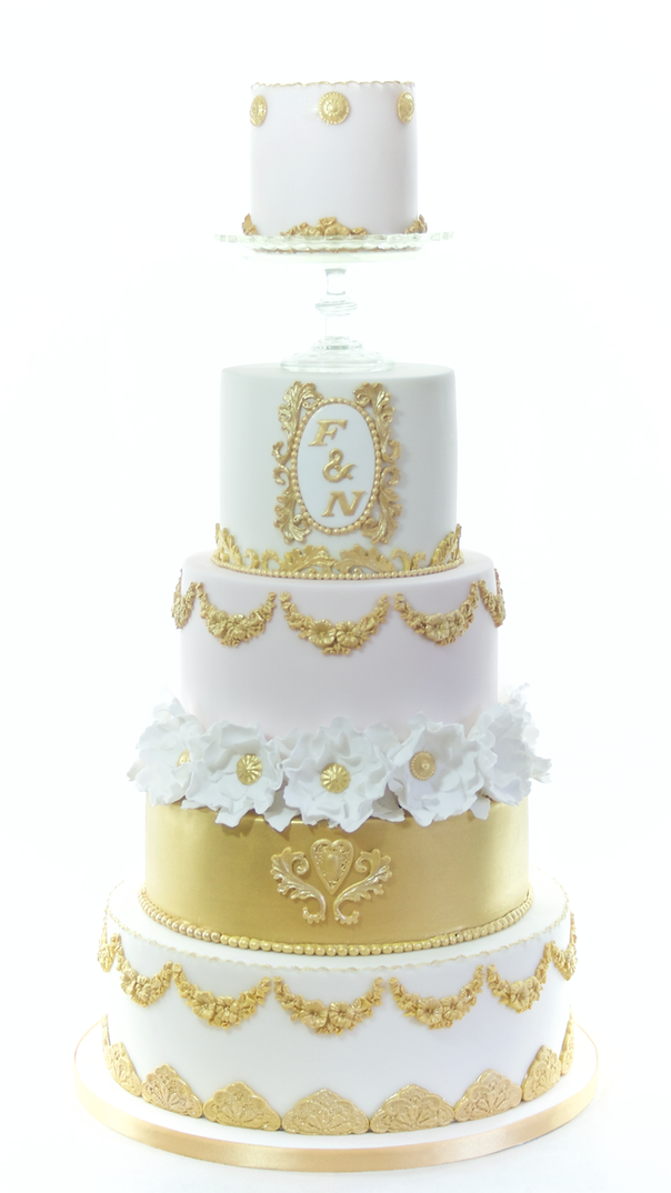 Gilded Grace Wedding Cake