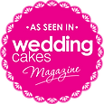 As Seen in Wedding Cakes Magazine stamp_