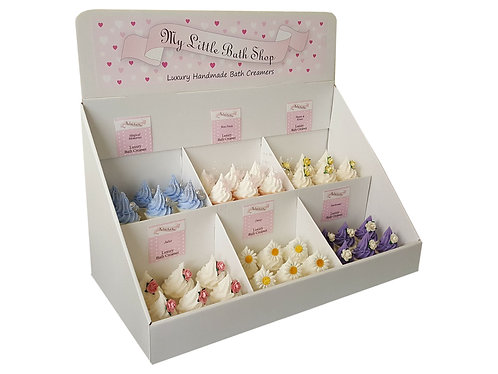 Display Stand for bath creamers and bath melts