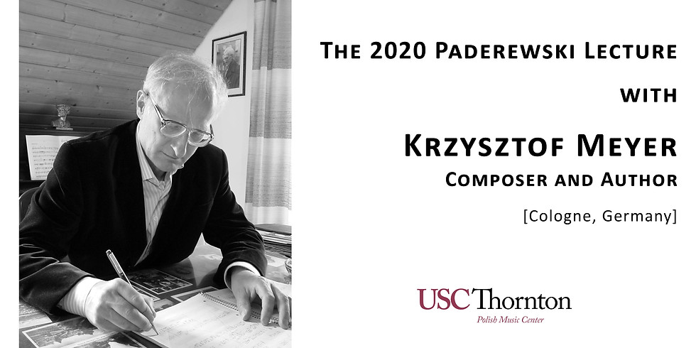2020 Paderewski Lecture with Krzysztof Meyer