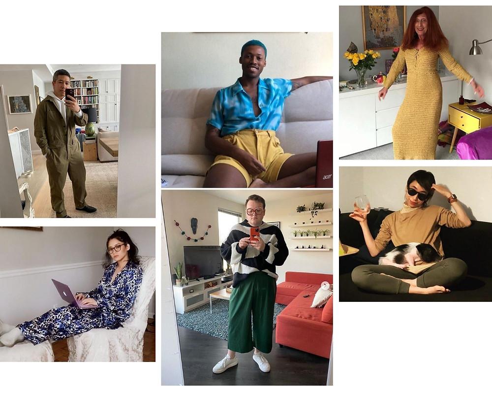 Seis looks de moda na pandemia de mulheres e homens diversos