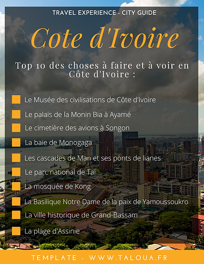 Travel List Côte d'Ivoire - TALOUA