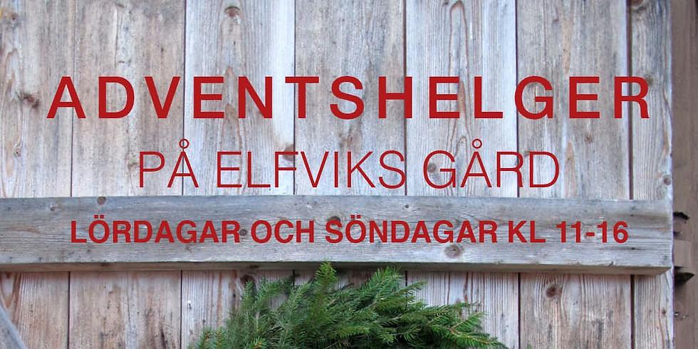 Julmarknaden blir stämningsfulla adventshelger på Elfviks Gård