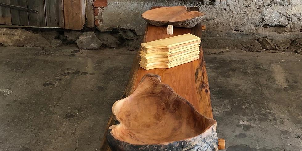 Mats Lagerman visar konsthantverk i trä och metall