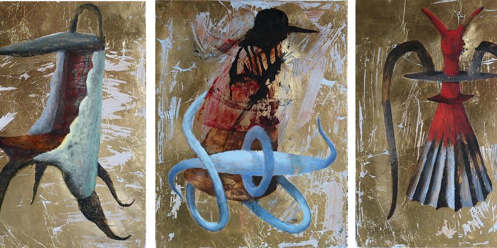 Bo Ljung ställer ut måleri - den fantasifulla, mångtydiga Guldsviten.