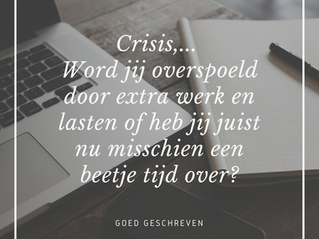 Profiteren van de crisis