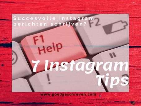 7 tips voor succesvolle Instagram berichten