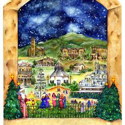 Fredericksburg Christmas Illustration