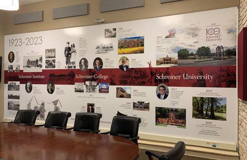Schreiner University Timeline