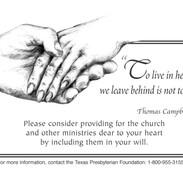Advertisement for Presbyterian Foundatio