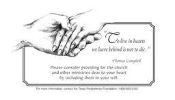 Texas Presbyterian Foundation advertisement