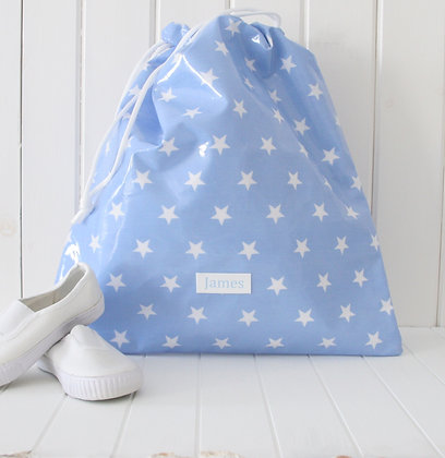 Wipe Clean Personalised Drawstring Kit Bags