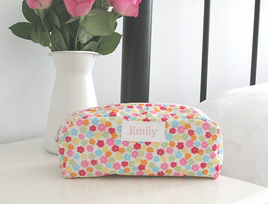 Candy Print Wipe Clean Cosmetic Bag