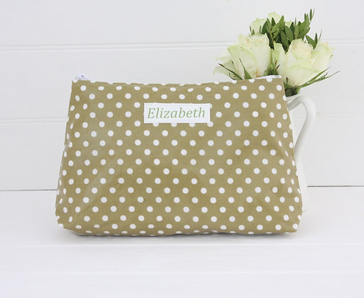 Wipe Clean Spot Large Cosmetic Bag