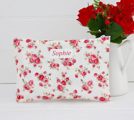 Floral Wipe Clean Cosmetic Bag