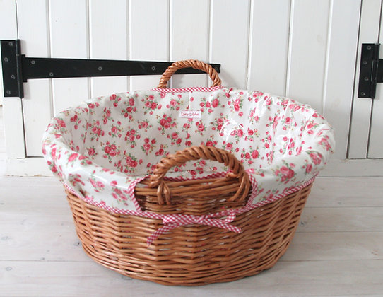 Floral Laundry Basket
