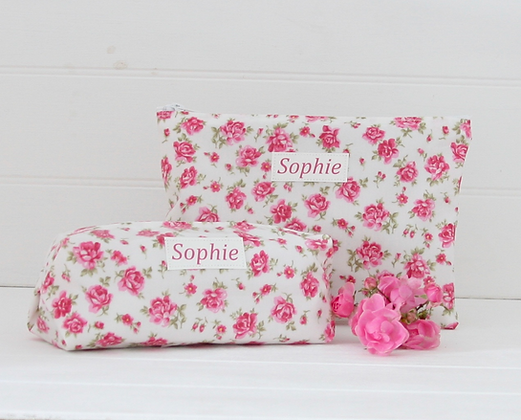 Floral Overnight Washbag & Cosmetic Bag