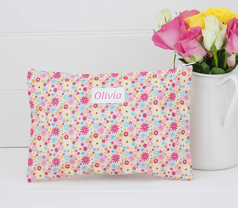 Candy Print Wipe Clean  wash bag