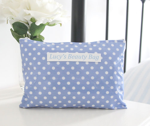 Dotty Wipe Clean Cosmetic Bag