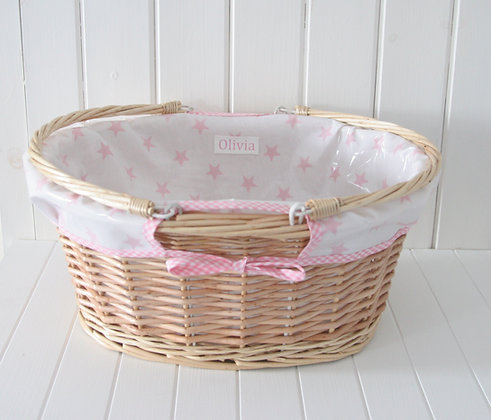 Wipe Clean Personalised Baby Nursery Basket