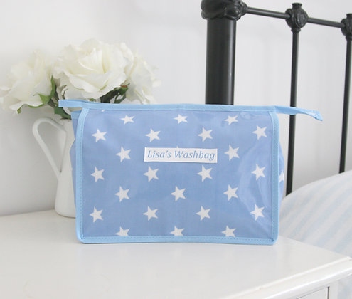 Large Wipe Clean Personalised Wash bag